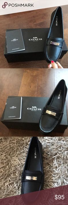 Coach Leather Moccasins Shoes Brand new pair of Coach shoes with box & authentic booklet . Coach Shoes Moccasins