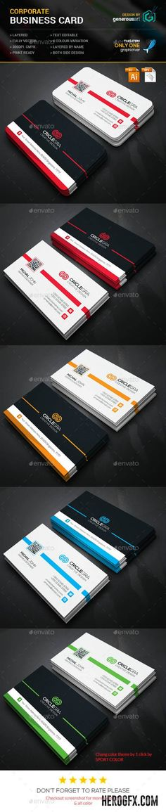 Criclegra Corporate Business Card 11865180 » GR, CM, Vector, Flyers, Mock up, PSD Templates, Sto ...