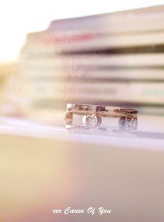 Valkokulta, timantti sormus