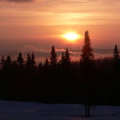 Sunrise at Trysil Norway Norway, Sunrise, Snow, Celestial, Mountains, Places, Nature, Travel, Outdoor