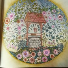 Johanna Basford The Secret Garden wishing well