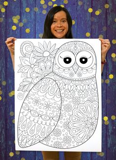 Coloring posters featuring the art of Thaneeya McArdle