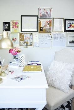 Fancy A glam and gold home office featuring office supplies and decor from Target The gallery