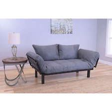 Futons Frame And Mattress Daybed Lounger Suede Grey Game Room College Dorm