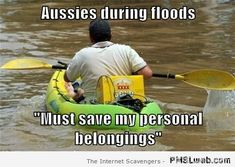 Aussies during floods meme at PMSLweb.com