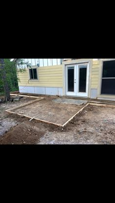 Framing front porch and sidewalks