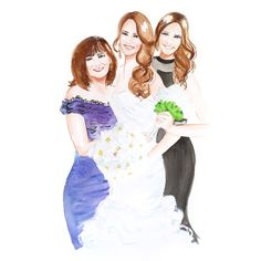 Custom Watercolor Portrait Watercolor Illustration of by DCinStyle