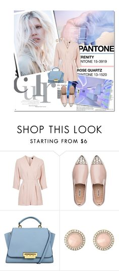 """""""Pantone Color of the Year 2016 - Rose Quartz and Serenity"""" by lifestyle-ala-grace ❤ liked on Polyvore featuring Topshop, Miu Miu, Charlotte Russe and Forever 21"""