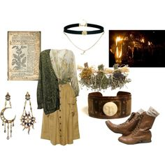 the green witch by earthandbone on Polyvore featuring polyvore fashion style Miss Selfridge ASOS Diego Percossi Papi