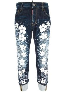 Shop Dsquared2 Work Wear Tokyo Flower jeans  in G & B from the world's best independent boutiques at farfetch.com. Shop 400 boutiques at one address.