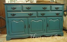 chalk paint with clear wax - Google Search