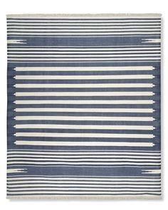 22) Stonewashed Variegated Stripe Flatweave Rug, 9 x 12, $995 + 15% off -- We can order a sample