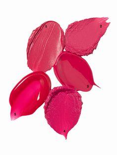 Dark pink lip color swatches
