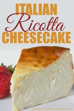 Italian Ricotta Cheesecake Recipe - Easy to make and delicious!! -