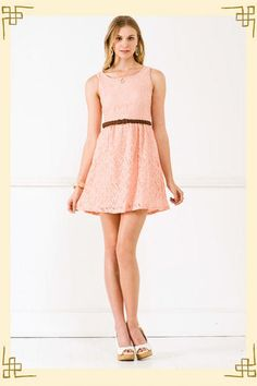 I bought this dress for graduation on sale without the belt! (leggings too) and some nude pumps