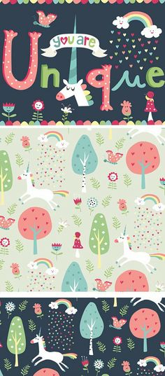 Nastja Holtfreter Illustration, Surface and Pattern Design: Frohen Valentinstag:) Happy Valentinesday Kids Patterns, Print Patterns, Decoupage, Pattern Illustration, Unicorn Illustration, Jolie Photo, Kids Prints, Cute Pattern, Pattern Ideas