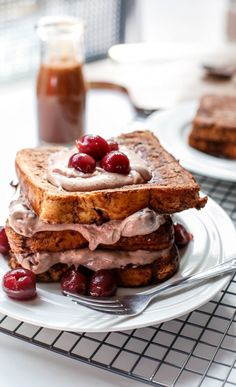 Double Chocolate Cherry Cheesecake French Toast.