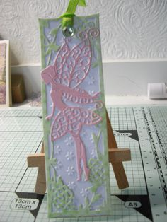 Tattered Lace Fairy Tinks bookmark.