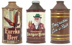 Vintage beer cans from cool book by Dan Becker & Lance Wilson, Beer: A Genuine of Cans