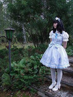 Lolita and Brolita Fancy Dress, Dress Up, Mode Lolita, Lolita Style, Brolita, White Tights, Satin Dresses, Frilly Dresses, Lolita Dress