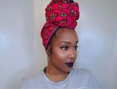 Get the best use of your head wraps with these amazing styles. Hair Day, New Hair, Your Hair, Scarf Hairstyles, African Hairstyles, Black Hairstyles, Head Wrap Scarf, Silk Head Wrap, Head Scarfs