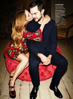 """""""Mad Fashion"""" Riley Keough and Nicholas Hoult for Glamour US May 2015"""