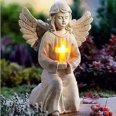 Pray Tattoo, Garden Angels, Birthday Frames, Angels Among Us, Angel Statues, Angel Pictures, God Prayer, Prayer Warrior, Cherub
