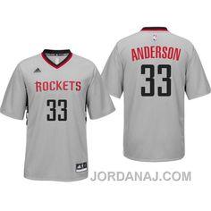 da28c1754 Shop Ryan Anderson Houston Rockets New Swingman Gray Alternate Jersey  Lastest black