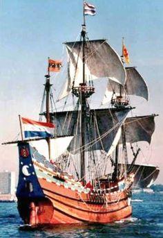 De Halve Maen was het schip van de Vereenigde Oostindische Compagnie (VOC) onder leiding van kapitein Henry Hudson,