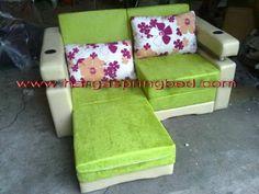 sofa bed bludru, sofa bed orchid