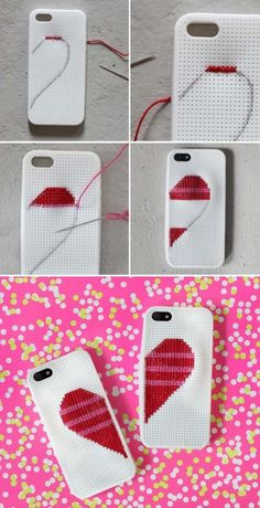 Best Valentine's Day Gifts For Her 3 - Valentinstag Geschenke Diy Washi Tape Phone Case, Diy Phone Case, Phone Cases, Beading Patterns, Best Valentine's Day Gifts, Valentines Day Gifts For Her, Embroidery Techniques, Diy Gifts, Do It Yourself