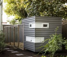 Modern chicken coop.  From Mitchell Synder Architecture.