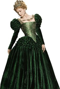 Léa Seydoux in 'Beauty and the Beast/La Belle & La Bête', Costume Design by Pierre-Yves Gayraud. Old Dresses, Pretty Dresses, Vintage Dresses, Vintage Outfits, Moda Medieval, Medieval Dress, Robes Disney, Costume Renaissance, Green Gown