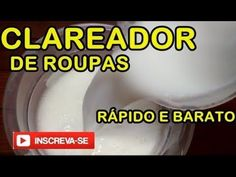 Sabão branqueador líquido lava roupas brancas - YouTube Diy Cleaning Products, Cleaning Hacks, Perfume, Reiki, Lens, Youtube, Home Cleaners, Cleaning Recipes, Cleaning Supplies