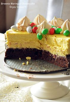 Brownie Cheesecake Brownie Cheesecake, Cheesecake Cupcakes, Easter Recipes, Easter Food, Something Sweet, Cheesecakes, Food And Drink, Ice Cream, Baking