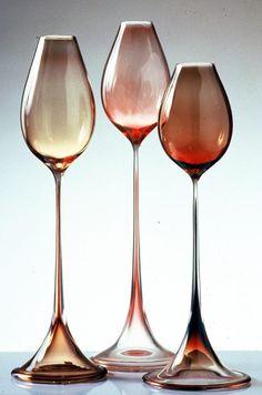 Gorgeous.Tulipa Glasses by Orrefors. Designer: Nils Landberg.1957.