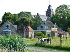 Schiedam-Kethel The Netherlands. Plantsoenen ophogen in het Dorp,1963/1965