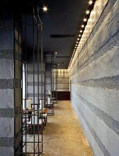 鋼材與水泥打造的日式餐館設計 : 歌穀穀