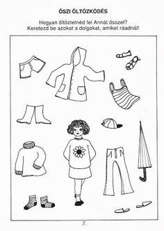 Fotó: Educational Activities, Preschool Activities, Primary School, Motor Skills, Paper Dolls, Kindergarten, Clip Art, Album, Learning