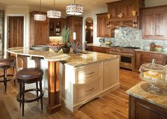 Kitchen Island 2 Levels 64 deluxe custom kitchen island designs | an, exposed and tile