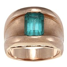 14k Rose Gold Tourmaline and 1/4ct TDW Diamond Estate Ring (I-J, SI1-SI2) | Overstock.com  I WANT THIS ONE MORE!