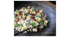 Recipe Thermomix middle eastern potato salad by georgia@wellnourished.com.au, learn to make this recipe easily in your kitchen machine and discover other Thermomix recipes in Side dishes. Large Salad Bowl, Salad Bowls, Food Dishes, Side Dishes, Egg Mayonnaise, Sambal Oelek, Parsley Potatoes, Chorizo Sausage, Kitchen Machine