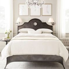 I love this headboard. LOL. I went searching for it and OF COURSE it's from Restoration Hardware.