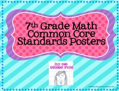 7th grade math common core standards posters