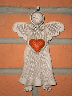EPKeramika / anjelik keramicky na stenu