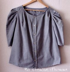30% OFF sale - Upcycled man's shirt and cotton - US 10/12 EU 42/44. €75.00, via Etsy.