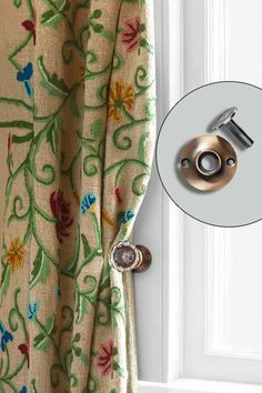 Vintage doorknobs found easily at salvage yards make great curtain tiebacks. Here's what you'll need to affix them. | Photo: Photo: John Gruen | thisoldhouse.com
