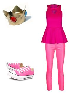 """Modern princess peach"" by silence-outcast on Polyvore featuring J Brand, City Chic, Converse and modern"