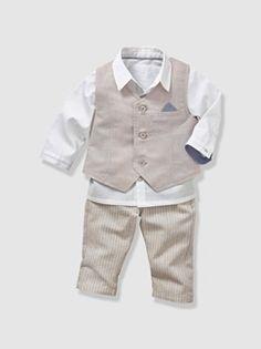 317ff4df685a1 Ensemble de cérémonie bébé garçon 3 pièces - vertbaudet enfant Ensemble  Cérémonie Garçon