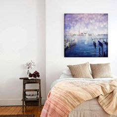 Canvas Gallery Wrap Venice photography 12x12 24x24 by TiAmoFoto